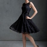 Robe noire de cocktail