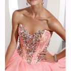 Robe rose bustier