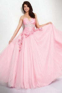 Robe bal rose