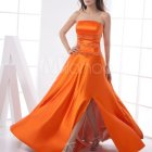 Robe de bal orange