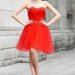 Robe rouge courte mariage