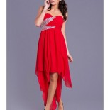 Robe bustier rouge longue