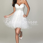 Robe blanche cocktail mariage