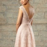 Robe ceremonie rose pale