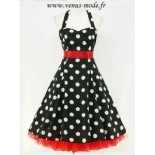 Robe pin up a pois