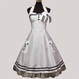 Robe pin up blanche