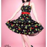 Robe rockabilly cerise