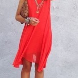 Robe rouge orange