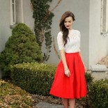 Robe témoin mariage rouge