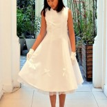Communion fille robe