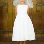 Robe blanche de communion fille