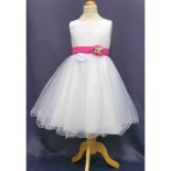 Robe ceremonie fille fushia