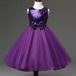 Robe ceremonie fille violette