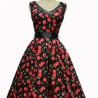 Robe cerise pin up