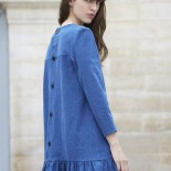Robe denim brut