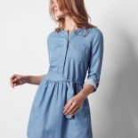 Robe denim tencel