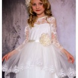 Robe dentelle ceremonie fille