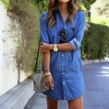 Robe en jean fashion