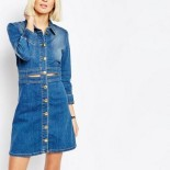 Robe en jean stretch