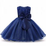 Robe fille ceremonie bleu