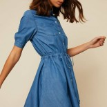 Robe patineuse jean