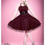 Robe pin up rouge et noir