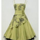 Robe pin up verte