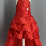 Robe rouge ceremonie fille