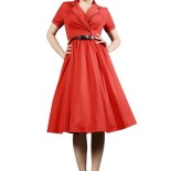 Robe rouge rockabilly