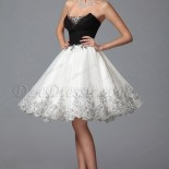 Robe cocktail blanche dentelle