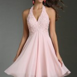 Robe cocktail rose pale mariage