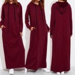 Robe maxi manches longues