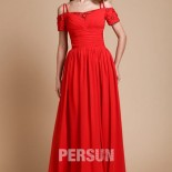 Robe rouge manche courte