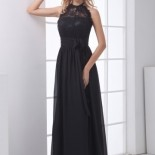 Robe simple noir longue