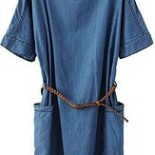 Robe tunique en jean