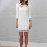 Robe blanche hiver femme