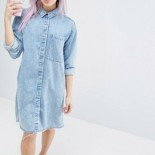 Robe chemisier en denim