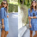Robe jean denim