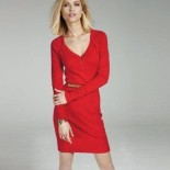Robe rouge en laine
