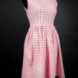Robe vichy rose annee 60