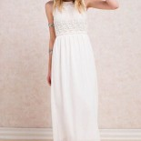 Robe femme longue blanche