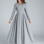 Robe hiver grise