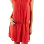 Robe chemisier rouge