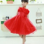Robe fille rouge