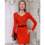 Robe laine rouge