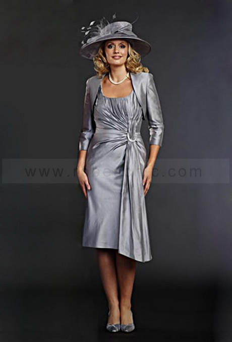 Robe mere mariee grise