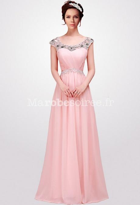 Robe de soiree longue rose fushia