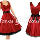 Robe rouge année 50