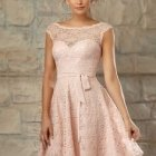 Robe habillee rose poudré