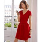 Robe rouge nouvel an